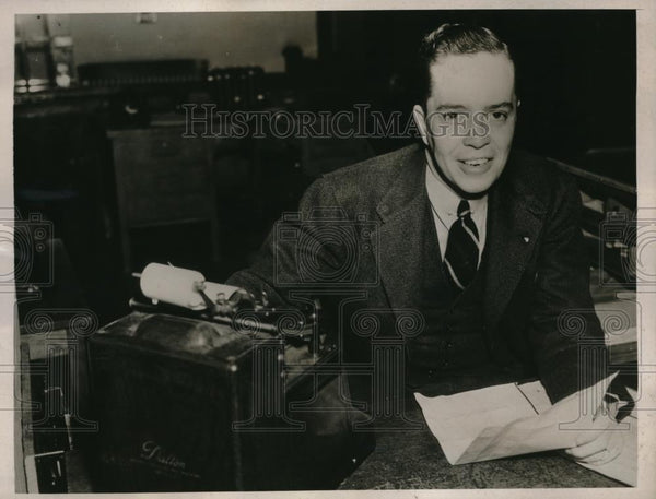1939 Press Photo Rowell Talley Birmingham cashier wins Movie Quiz contest in ALA - Historic Images
