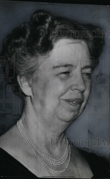 Press Photo United States First Lady Eleanor Roosevelt - spx03977 - Historic Images