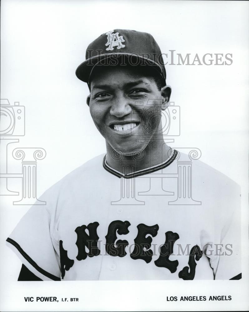 1965 Press Photo Vic Power of Los Angeles Angels - cvs01338 - Historic Images