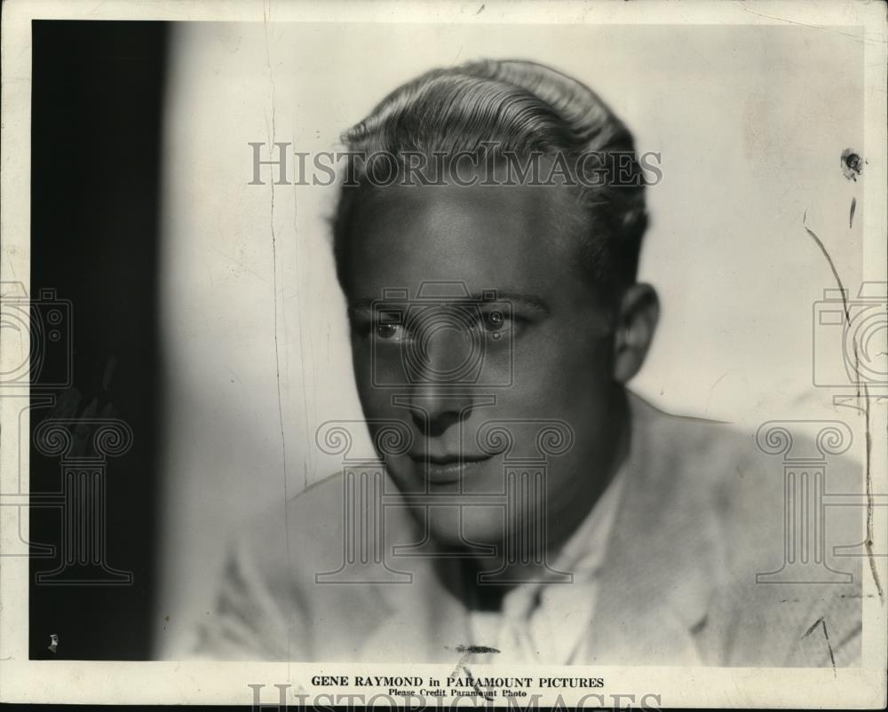 1933 Press Photo Gene Raymond - cvp80475 - Historic Images