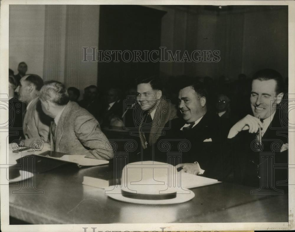 1932 Press Photo GeorgeD Templeton Jr & aaty at his murder trial in CA Attorney - Historic Images