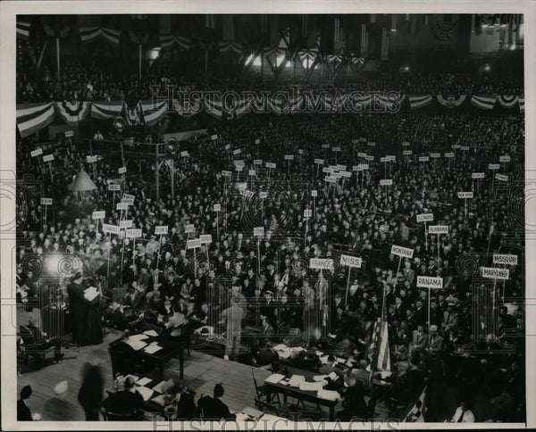 1939 Press Photo Chicago American Legion convention opens eith 1398 delegates - Historic Images