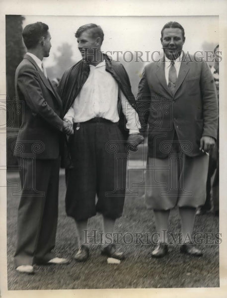 1931 Press Photo John Lehman, Charles Seaver, Arthur Yates at Amateur golf in Il - Historic Images