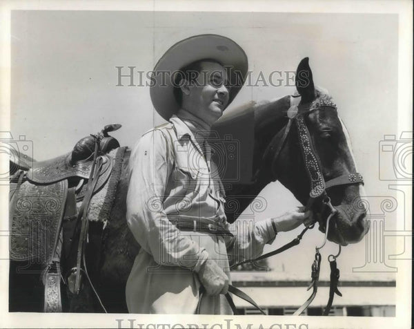 1941 Press Photo George Duffy Texas Cowboy - cvp06787 - Historic Images