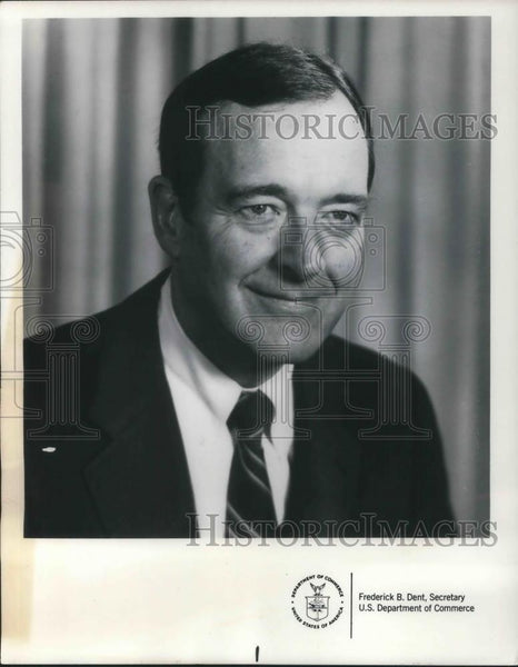 1974 Press Photo Frederick B. Dent Secretary U.S. Department of Commerce - Historic Images
