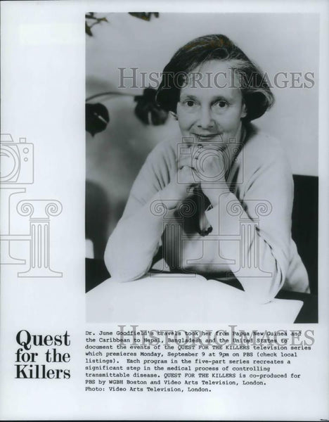1965 Press Photo Dr June Goodfield Quest For The Killers On PBS - cvp17456 - Historic Images