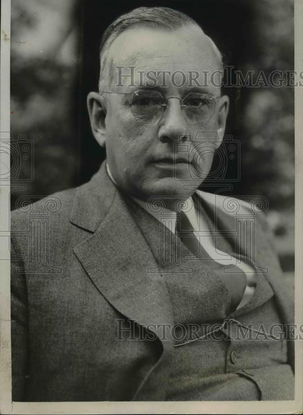 1936 Press Photo Gov Alf M Landon of Kansas remains leader in the race for - Historic Images