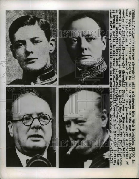 1949 Press Photo Winston Churchill - nee92716 - Historic Images