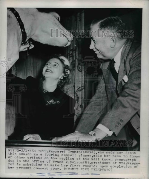 1950 Press Photo Margaret Truman Touring As Concert Singer - nee91583 - Historic Images