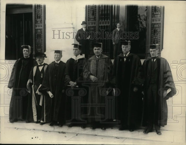 1923 Press Photo Heads Of Learning Attended Washington Installation - nee96919 - Historic Images