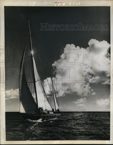 1938 Press Photo Bermuda Ocean Yacht winner the Baruna owned by HC Taylor - Historic Images