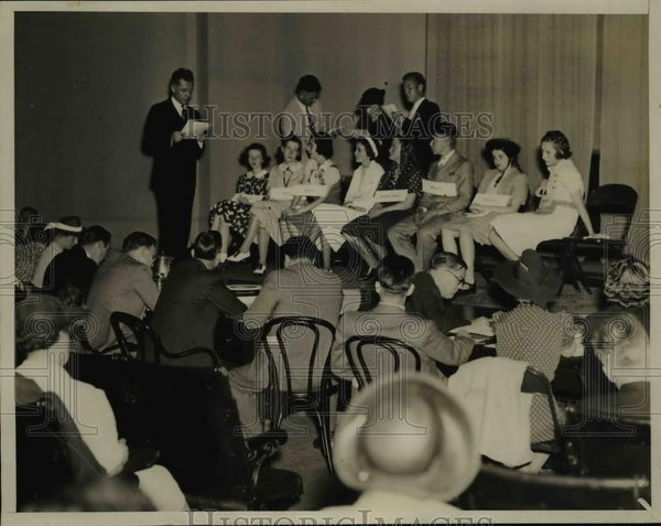 1938 Press Photo National Spelling Bee Contest - nef01635 - Historic Images