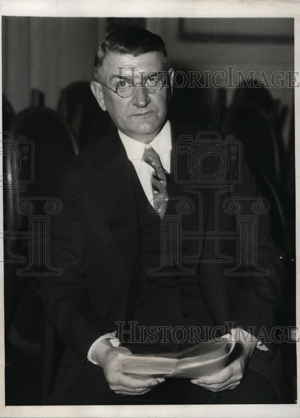 1932 Press Photo Prof Walter Rautenstrauch gives speech - nee94914 - Historic Images