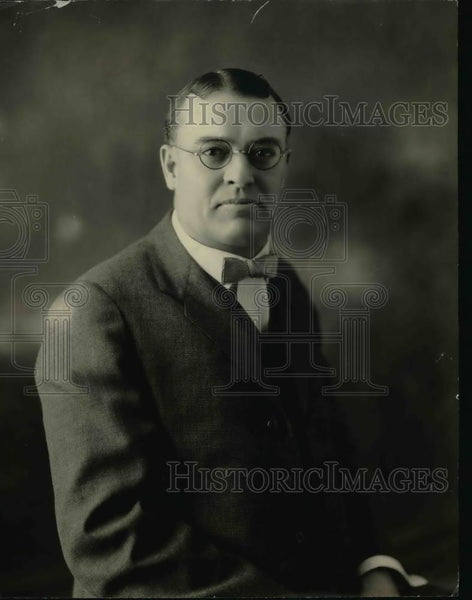 1924 Press Photo JH DePew Chief Announcer & Station Manager for WCBD - nef02114 - Historic Images