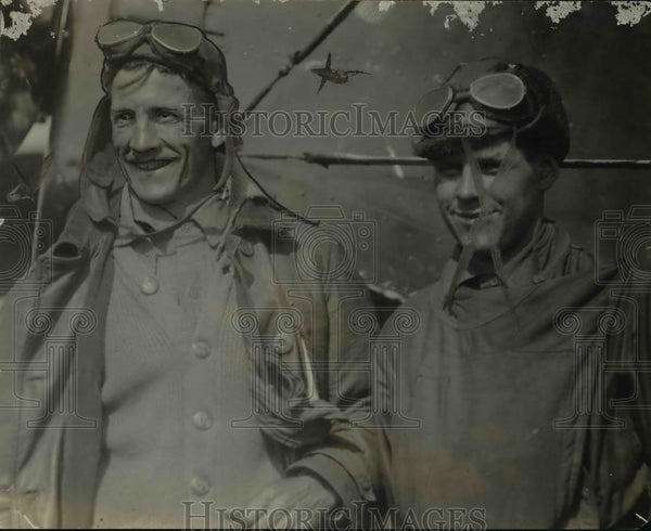 1919 Press Photo Lieutenant H.J. Meyers and MSC H.D. Norris - WWI pilots - Historic Images