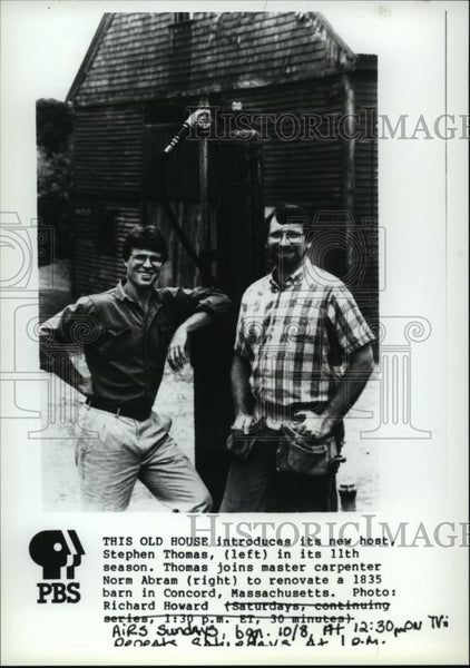Press Photo This Old House-host Stephen Thomas and carpenter Norm Abram - Historic Images