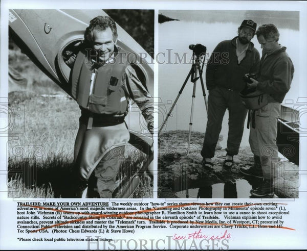 Press Photo Trailside: Make your Own Adventure. The weekly outdoor how to show. - Historic Images