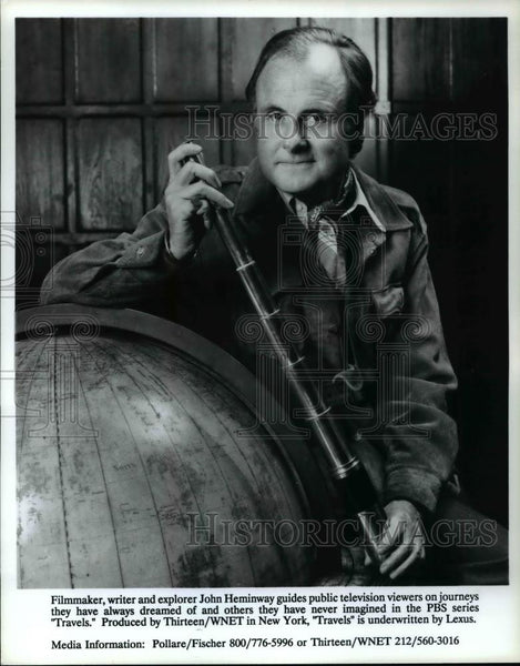 Press Photo Filmmaker, writer and explorer John Heminway  - cvb67780 - Historic Images