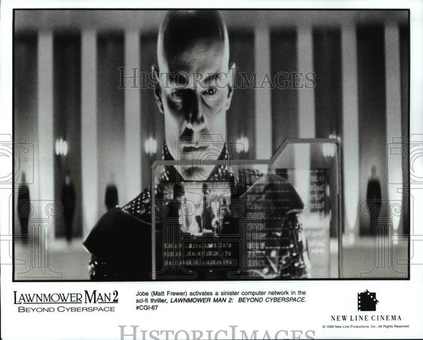Press Photo Matt Frewer-Lawnmower Man 2: Beyond Cyberspace movie - cvb68364 - Historic Images