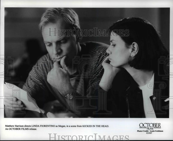 Press Photo Matthew Harrison, Linda Fiorentino-Kicked in the Head - cvb68388 - Historic Images