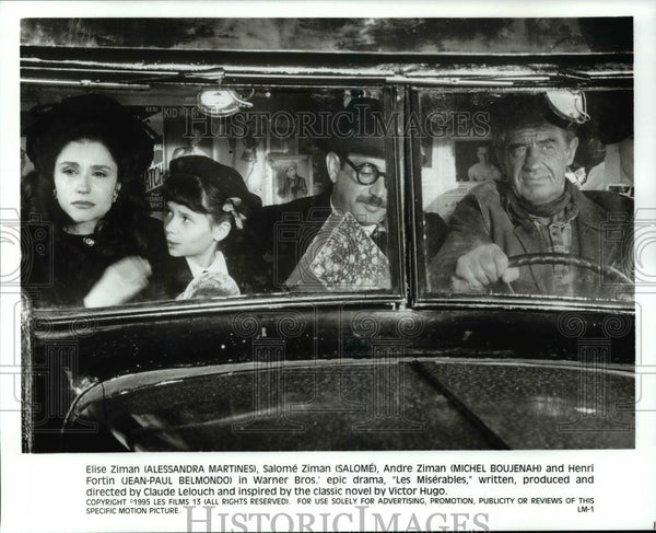 Press Photo Martines, Salome, Michel Boujenah, Jean Belmondo,-Les Miserables - Historic Images