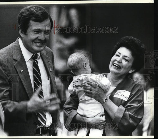 1986 Press Photo Rep. Richard Stallings (D-Idaho), with his wife, Ranae. - Historic Images