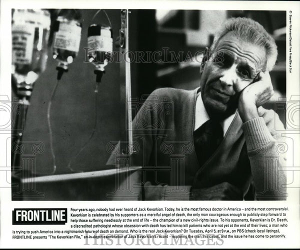 1994 Press Photo Jack Kevorkian Famous Doctor in America - spp00325 - Historic Images