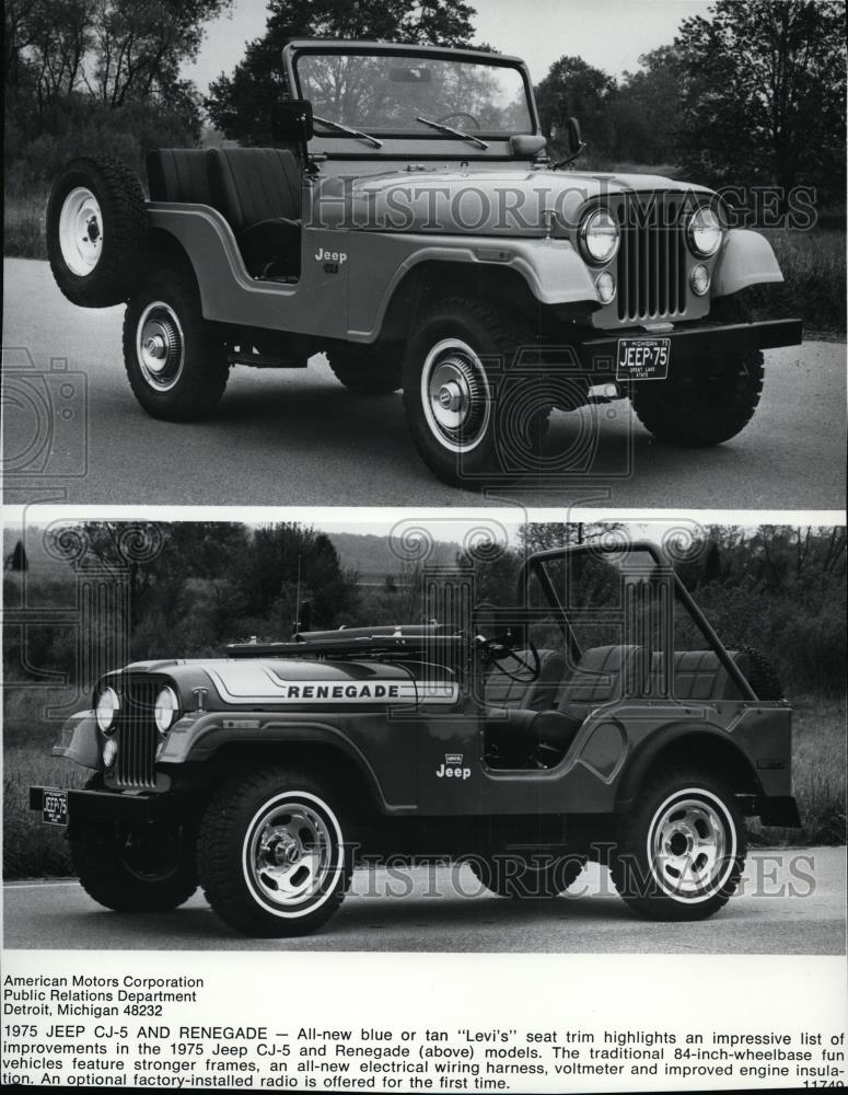 Strange 1974 Press Photo Jeep Cj5 And Renegade Spp00117 Historic Images Wiring Cloud Hisonuggs Outletorg