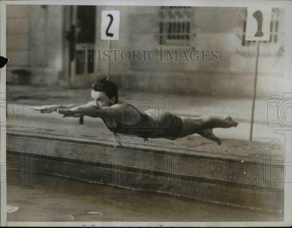 1935 Press Photo Elsie Ferrill at Miami Biltmore swim meet for Olympic stars - Historic Images