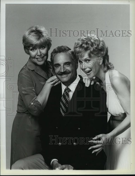 1983 Press Photo Hal Linden Dorothy Loudon & Barbara Eden The Best of Everything - Historic Images
