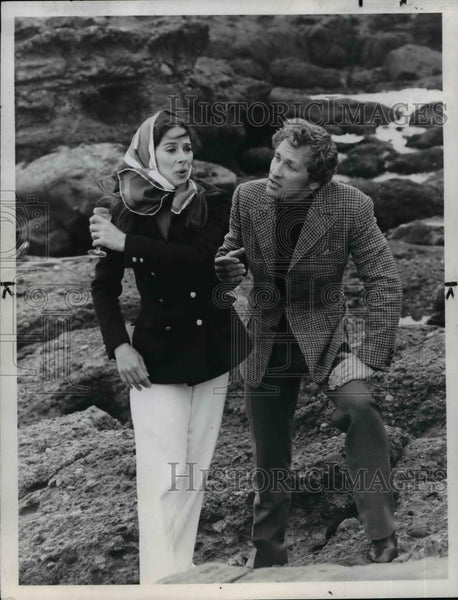 "1970 Press Photo Joan Hackett & Roy Thinnes in ""World Premiere"" - orp29545 - Historic Images"