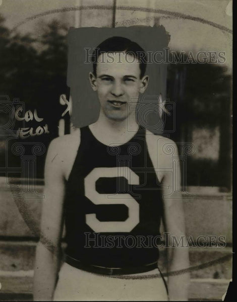 1926 Press Photo Fred Alderman University of Michigan track team - net16740 - Historic Images
