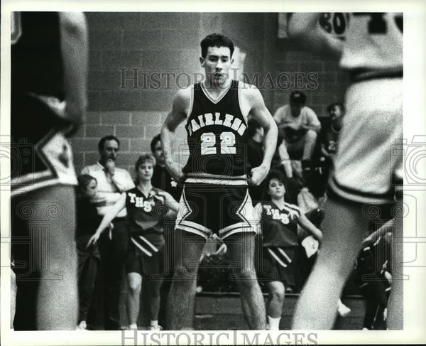 Press Photo Tim Wade prepares himself to rebound as Tuslaw makes foul shot. - Historic Images