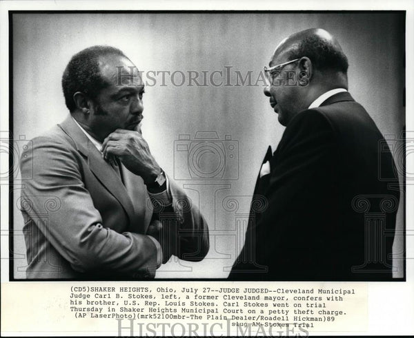 1989 Press Photo Carl Stokes and Louis Stokes - cvp99800 - Historic Images