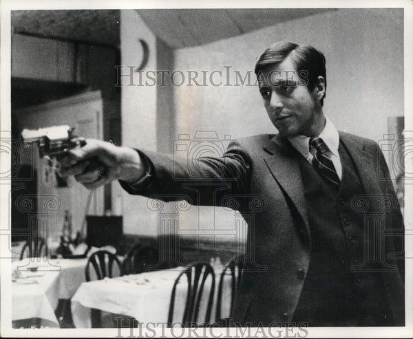 1972 Press Photo Al Pacino in The Godfather. - cvp99881 - Historic Images