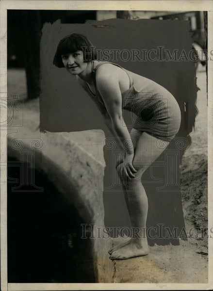 1924 Press Photo Swimmer Ethel Lackie of Chicago - net08640 - Historic Images