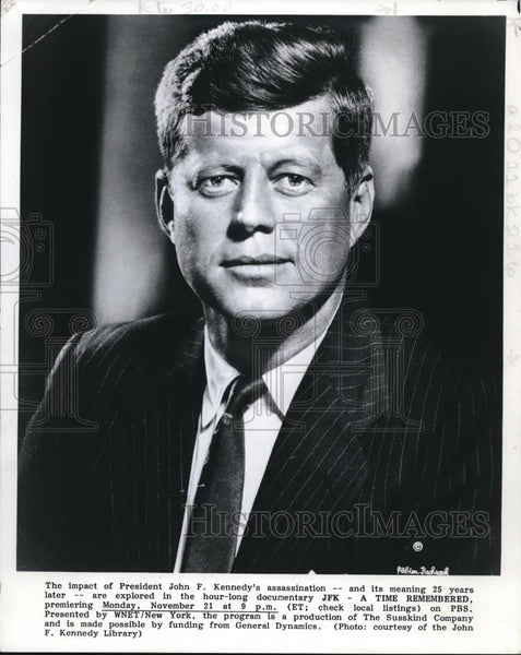 2001 Press Photo JFK- A Time Remembered, to be aired on PBS - orq00043 - Historic Images