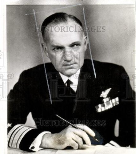 1942 Press Photo John Towers Naval admiral Aviator - Historic Images