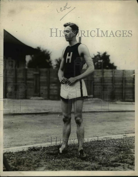 1924 Press Photo John M Soapy Watters of Harvard at 80 meter run - net21449 - Historic Images