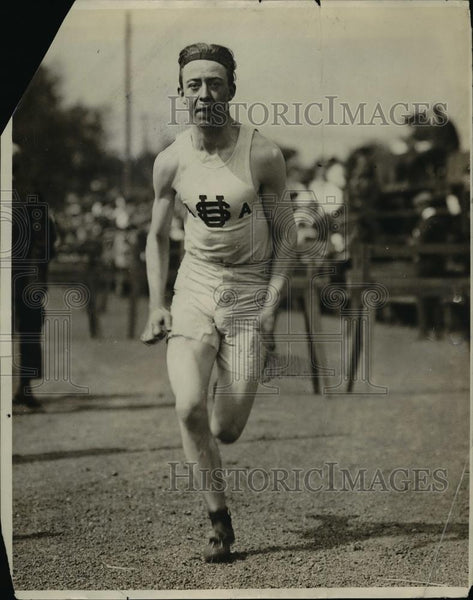 1913 Press Photo Track runner Maurer at practice at track meet - net21467 - Historic Images