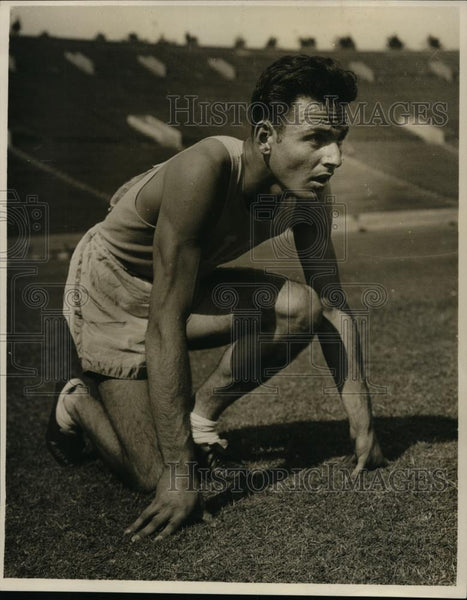 1928 Press Photo 18 year old Los Angeles sprinter Frank Lombardi - net22147 - Historic Images