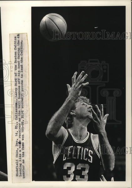 1985 Press Photo Larry Bird, Boston Celtics - cvb76683 - Historic Images