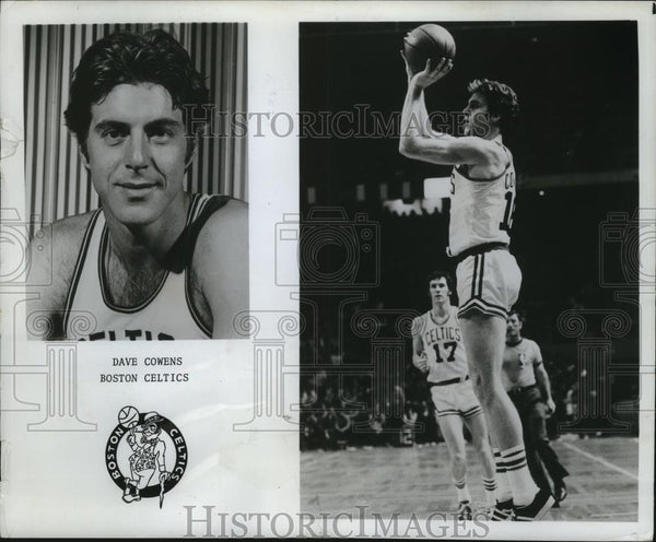 1973 Press Photo Dave Cowens of the Boston Celtics, shoots the basketball - Historic Images