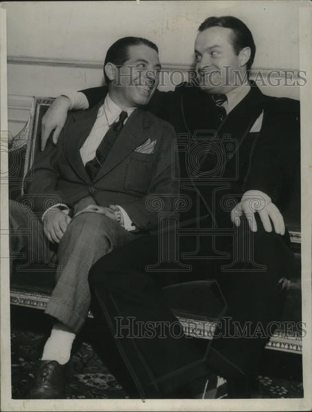 1940 Press Photo Comedians Bob Hope & Charles Cooley at Palace Theater - Historic Images