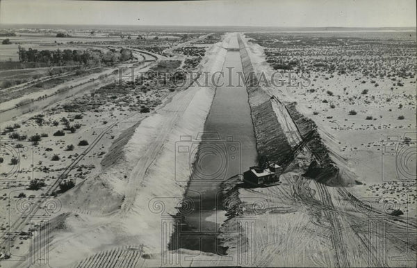 1937 Press Photo World's largest irrigation canal for Imperial Valley completed - Historic Images