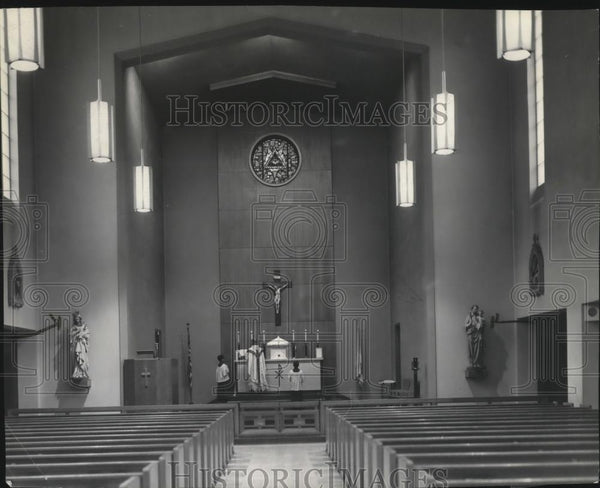 Press Photo St. Francis of Assisi Catholic church - Historic Images