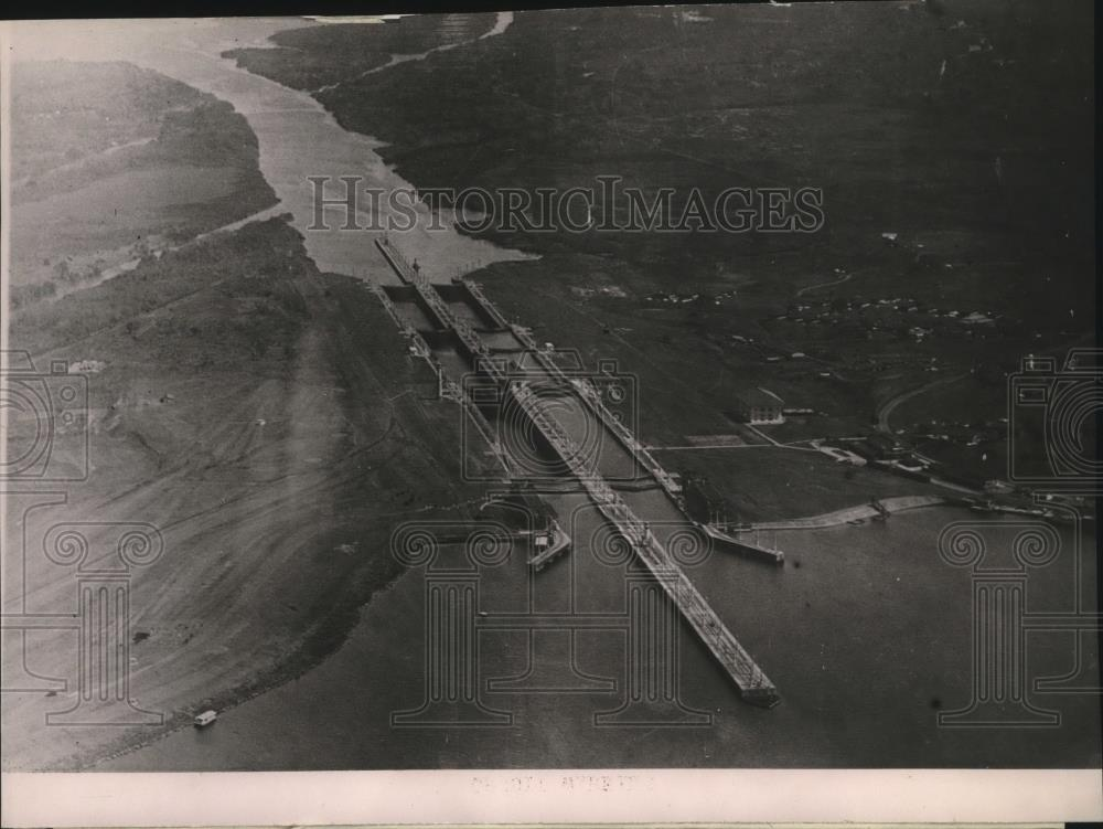 1920 Press Photo Gatun Locks at Panama President Elect Harding Will Tour - Historic Images