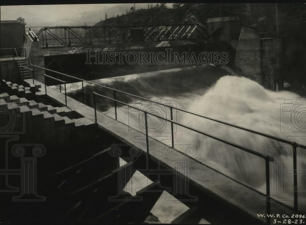 1936 Press Photo Post Falls Dam - spx09132 - Historic Images
