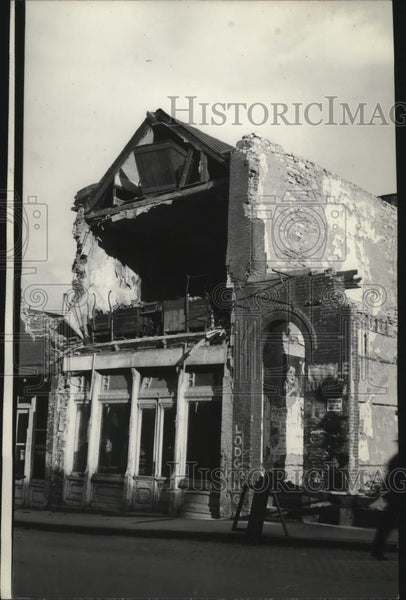 1936 Press Photo Helena Earthquake, Main street where one man was killed - Historic Images