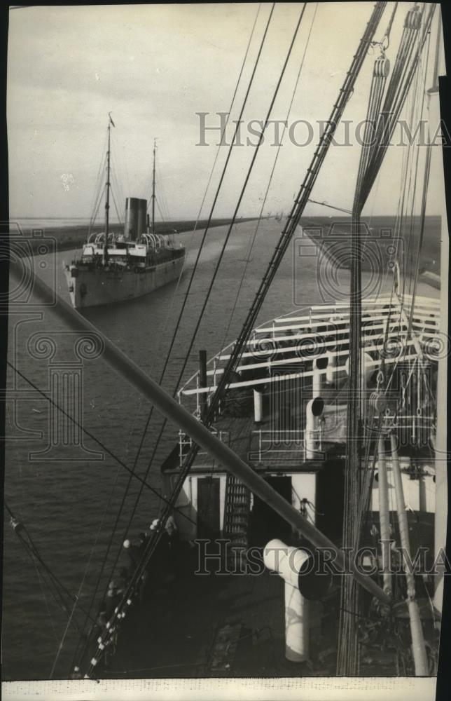 1915 Press Photo Suez Canal threatened by huge teutonic offensive - spx09593 - Historic Images